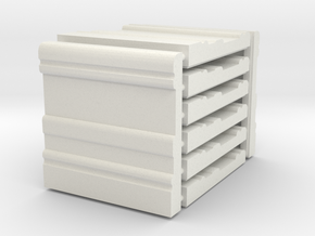 3 x 3 Baseboard Set in White Natural Versatile Plastic