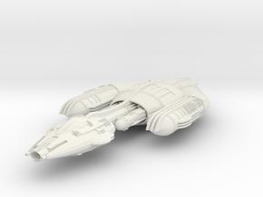 Krenim Warship in White Natural Versatile Plastic