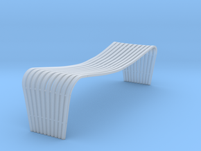 Miniature Dusko Lapcevic Tribal Bench in Smooth Fine Detail Plastic: 1:12