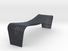 Miniature Dusko Lapcevic Tribal Bench in Black PA12: 1:12