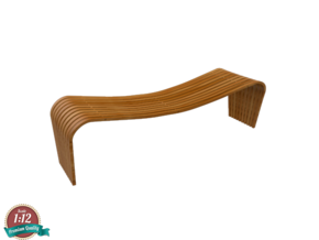 Miniature Dusko Lapcevic Tribal Bench in White Natural Versatile Plastic: 1:12