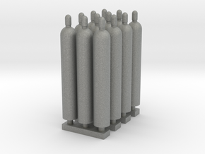 1:87 Gas Cylinders Pack of twelve in Gray PA12