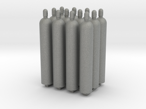 1:50 Gas Cylinders Pack of twelve  in Gray PA12