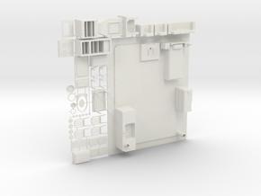 Oscale Plasticville Bungelow Interior #1c in White Natural Versatile Plastic