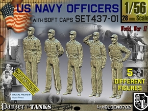 1/56 USN Officers Set437-01 in Smooth Fine Detail Plastic