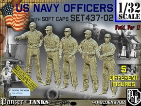 1/32 USN Officers Set437-02 in Smooth Fine Detail Plastic