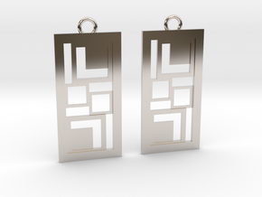 Geometrical earrings no.3 in Platinum: Small