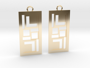 Geometrical earrings no.3 in 14K Yellow Gold: Small