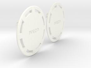 Flasque de roue pour IVECO - IVECO Truck rear whee in White Processed Versatile Plastic