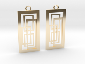 Geometrical earrings no.2 in 14K Yellow Gold: Small