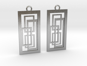 Geometrical earrings no.2 in Natural Silver: Small