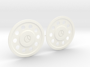 Flasque de roue pour Mercedes - Mercedes Truck rea in White Processed Versatile Plastic