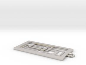 Geometrical pendant no.2 in Platinum: Small