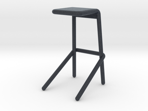Miniature Alodia Stool - Cappellini  in Black PA12: 1:12