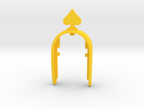 SPADE ON TOP KEY FOB in Yellow Processed Versatile Plastic