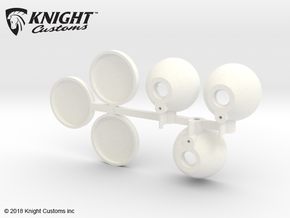 CT10002 C10 spot lights in White Processed Versatile Plastic