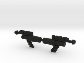 Lobros Laser Pistol in Black Natural Versatile Plastic
