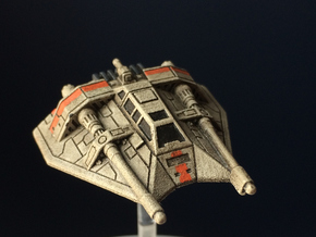 Hover Speeder High-Detail Sci-Fi Miniature in Smooth Fine Detail Plastic