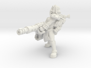 Miner Heavy machine cannon in White Natural Versatile Plastic
