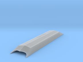 HO Auxiliary Roof for Budd Metroliner MU in Smooth Fine Detail Plastic