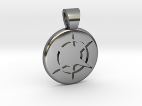 Star Realms [pendant] in Polished Silver