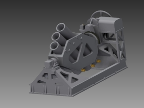 Squid Starboard mortar 1/72 in Smooth Fine Detail Plastic