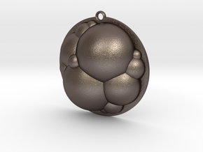 Bubbles Pendant in Polished Bronzed Silver Steel