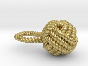 Knot pendant in Natural Brass