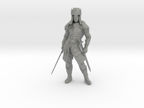 O Scale 2 Sworded Knight in Gray PA12