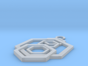 Geometrical pendant no.5 in Smooth Fine Detail Plastic: Small