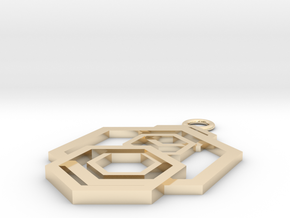Geometrical pendant no.5 in 14k Gold Plated Brass: Small