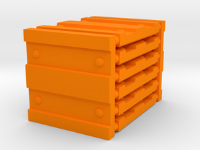 3 x 3 Wide Corrugation Set in Orange Processed Versatile Plastic