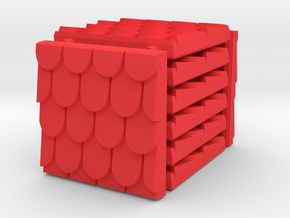3 x 3 Fancy Shingle Set in Red Processed Versatile Plastic