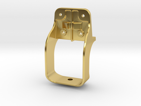 "D&RG Lower Brake Mast Stirrup - 2.5"" scale in Polished Brass"
