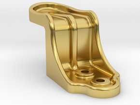 """Dunham Co End Door Stop - 2.5"""" scale in Polished Brass"""