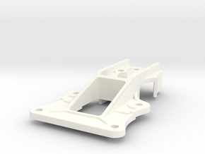 """Camel Co 4-bolt Door Trolley - 2.5"""" scale in White Processed Versatile Plastic"""