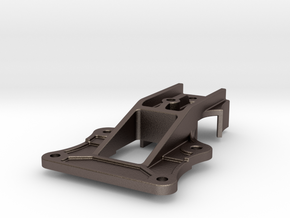 "Camel Co 4-bolt Door Trolley - 2.5"" scale in Polished Bronzed-Silver Steel"