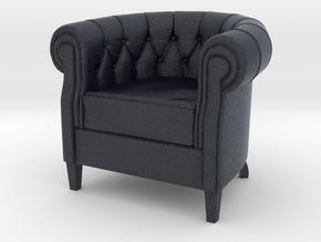 Miniature Queen Armchair - Natuzzi Italia in Black PA12: 1:12