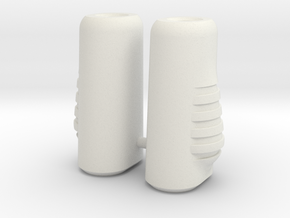 Dart Boots in White Natural Versatile Plastic