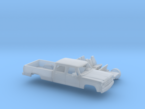 1/160 1988-91 Dodge Ram CrewCab Long Bed Kit in Smooth Fine Detail Plastic