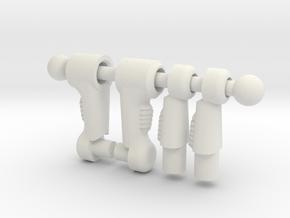 Dart Legs in White Natural Versatile Plastic