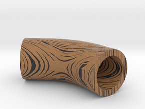 wood grain bent tube in Full Color Sandstone