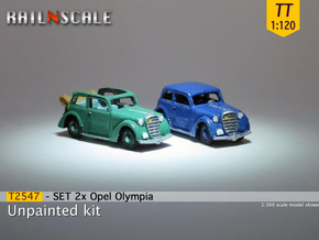 SET 2x Opel Olympia (TT 1:120) in Smooth Fine Detail Plastic