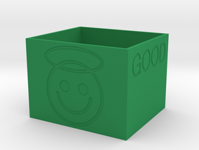 """Good"" Battery Box in Green Processed Versatile Plastic"