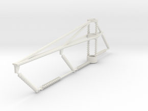 PRR 3 phase bracket CURVE in White Natural Versatile Plastic
