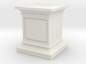 28mm Scale - Square Hero Base / Display Plinth. in White Natural Versatile Plastic