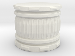 28mm Scale - Round Hero Base / Display Plinth. in White Natural Versatile Plastic