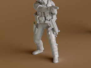 1 Soldier no base (1:64 Scale) in Smooth Fine Detail Plastic