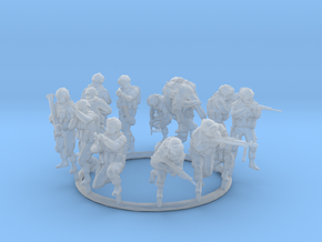 Combat 1 Gruop 1 - 13 no base (1:64 Scale) in Smooth Fine Detail Plastic