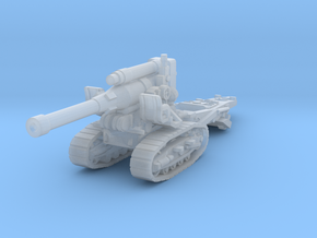 B4 howitzer scale 1/160 in Smooth Fine Detail Plastic